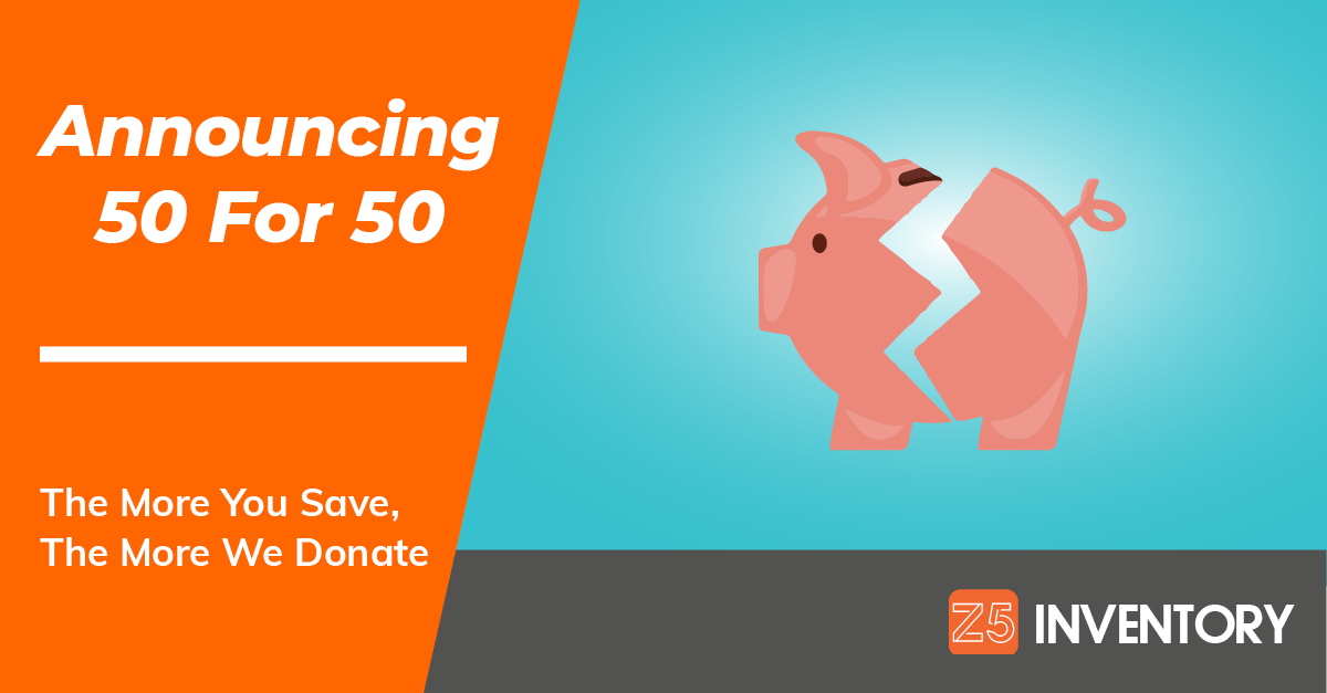 Our piggy bank is breaking open to pass our savings on to worthy charities.