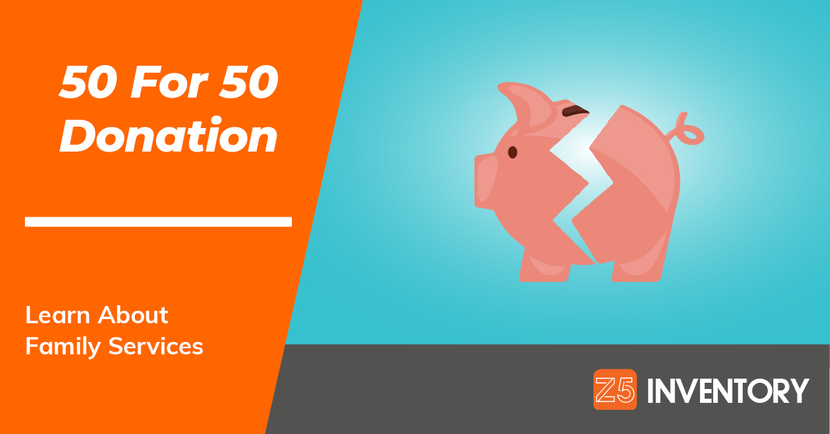 The Z5 Piggy Bank is cracked open to give a donation to the latest recipient of the 50 For 50 program.