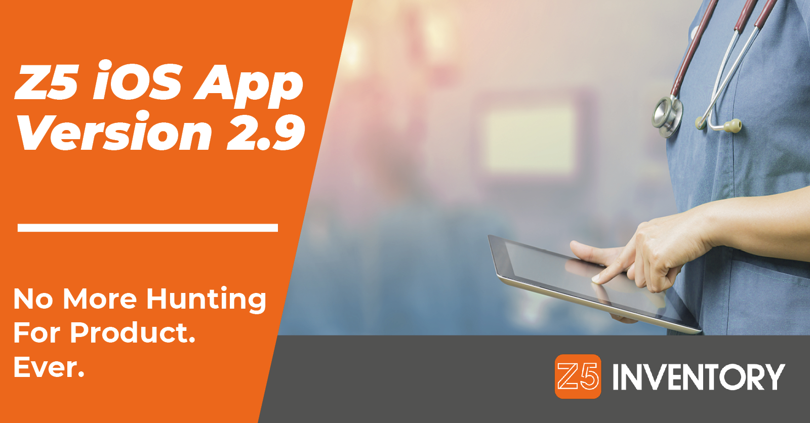 A Clinician Uses the Newest Version of the Z5 Inventory app.