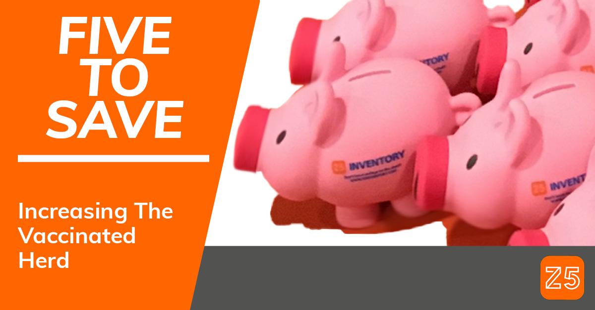 A herd of Z5 Piggy Banks follows their leader toward herd immunity.