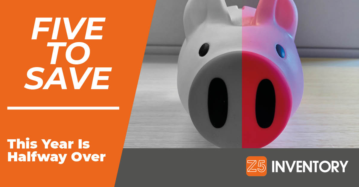 The Z5 Piggy Bank is halfway done with the year. And so are you, like it or not.