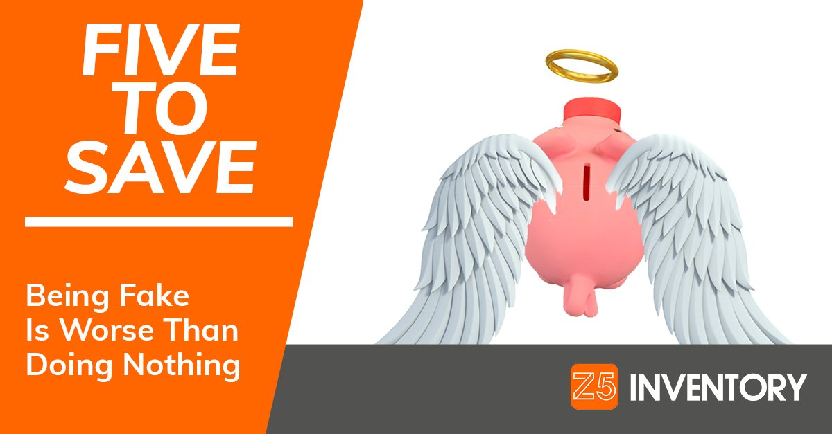 The Z5 Piggy Bank is turned into an angel by fake praise that ultimately hurts an organization.