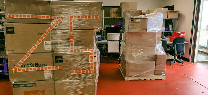 Z5 Reallocate made possible the donation of several pallets of medical supplies to fight COVID-19.
