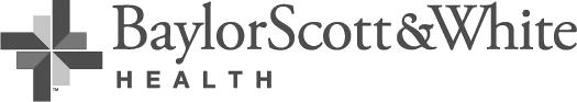 Baylor Scott White logo - grayscale long