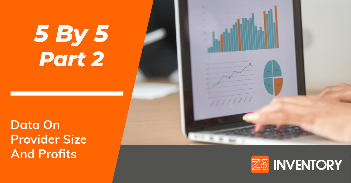 Our 5 By 5 series continues with a look at healthcare provider size and its impact on profits.