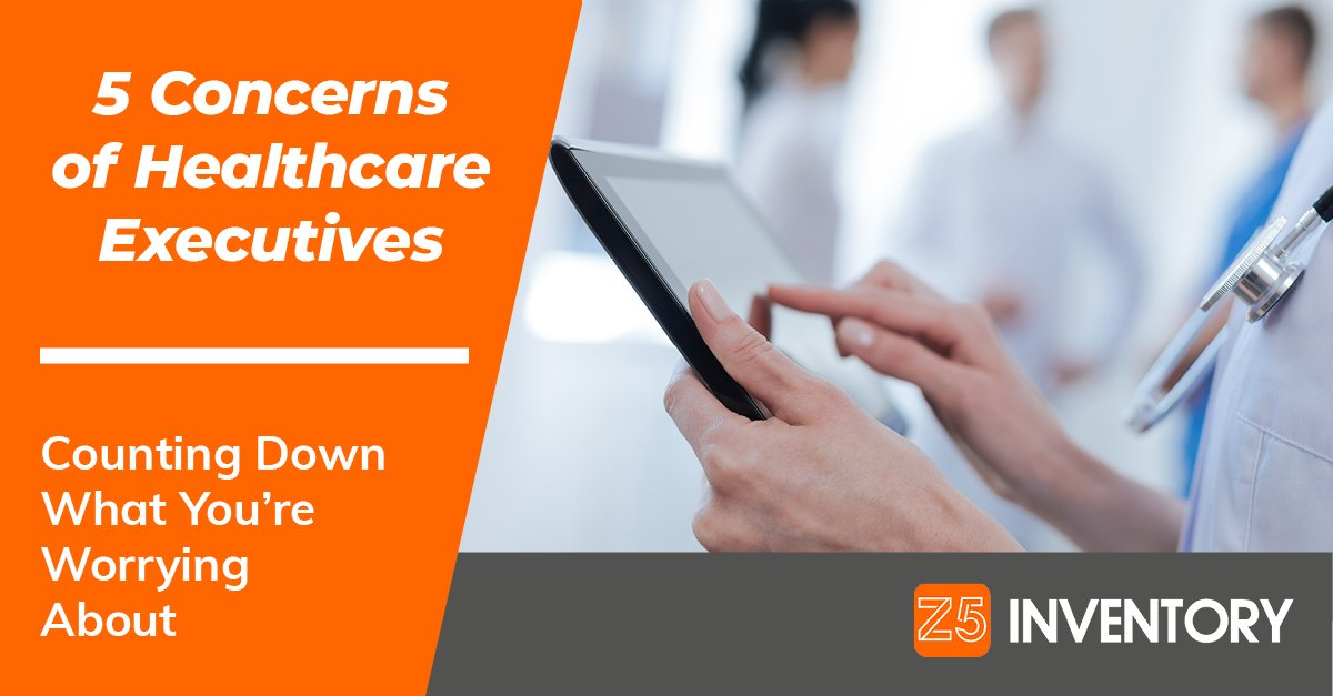 We're counting down what healthcare executives are concerned about.