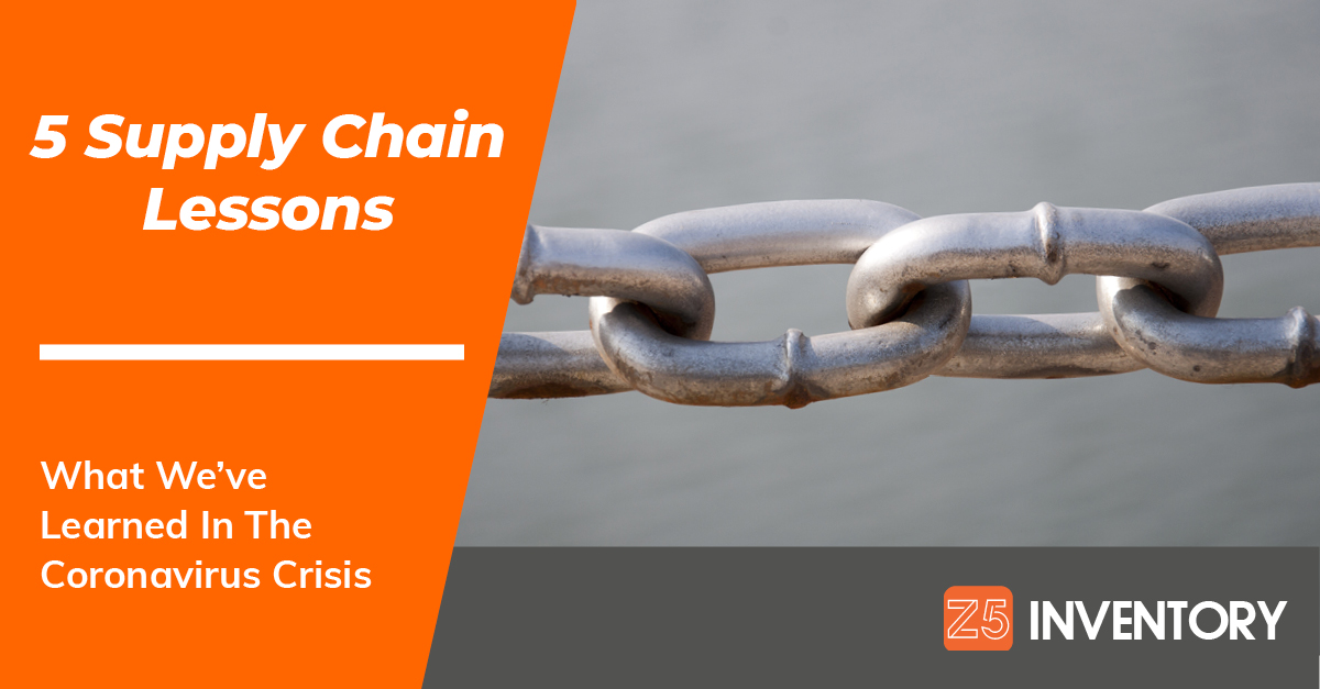 A literal metal chain is the least subtle illustration possible for the supply chain.