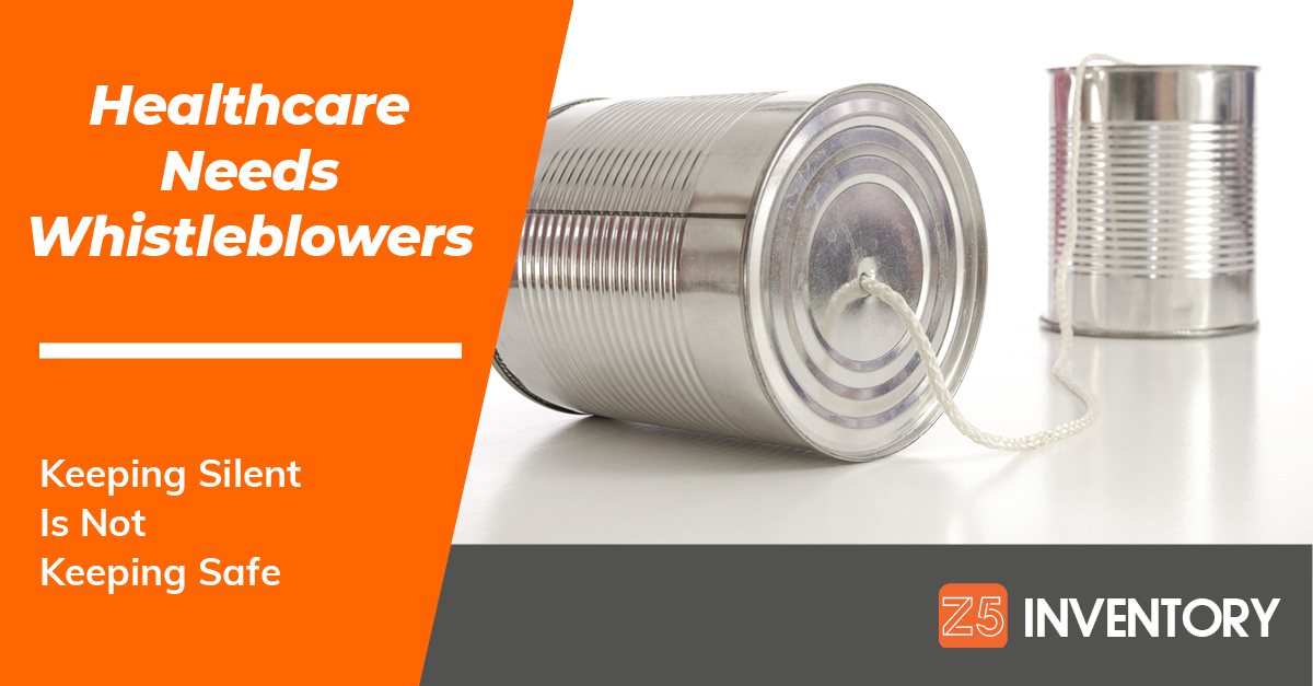 Two cans connected with string illustrate the need for increased communication in healthcare - including the essential function that whistleblowers serve.